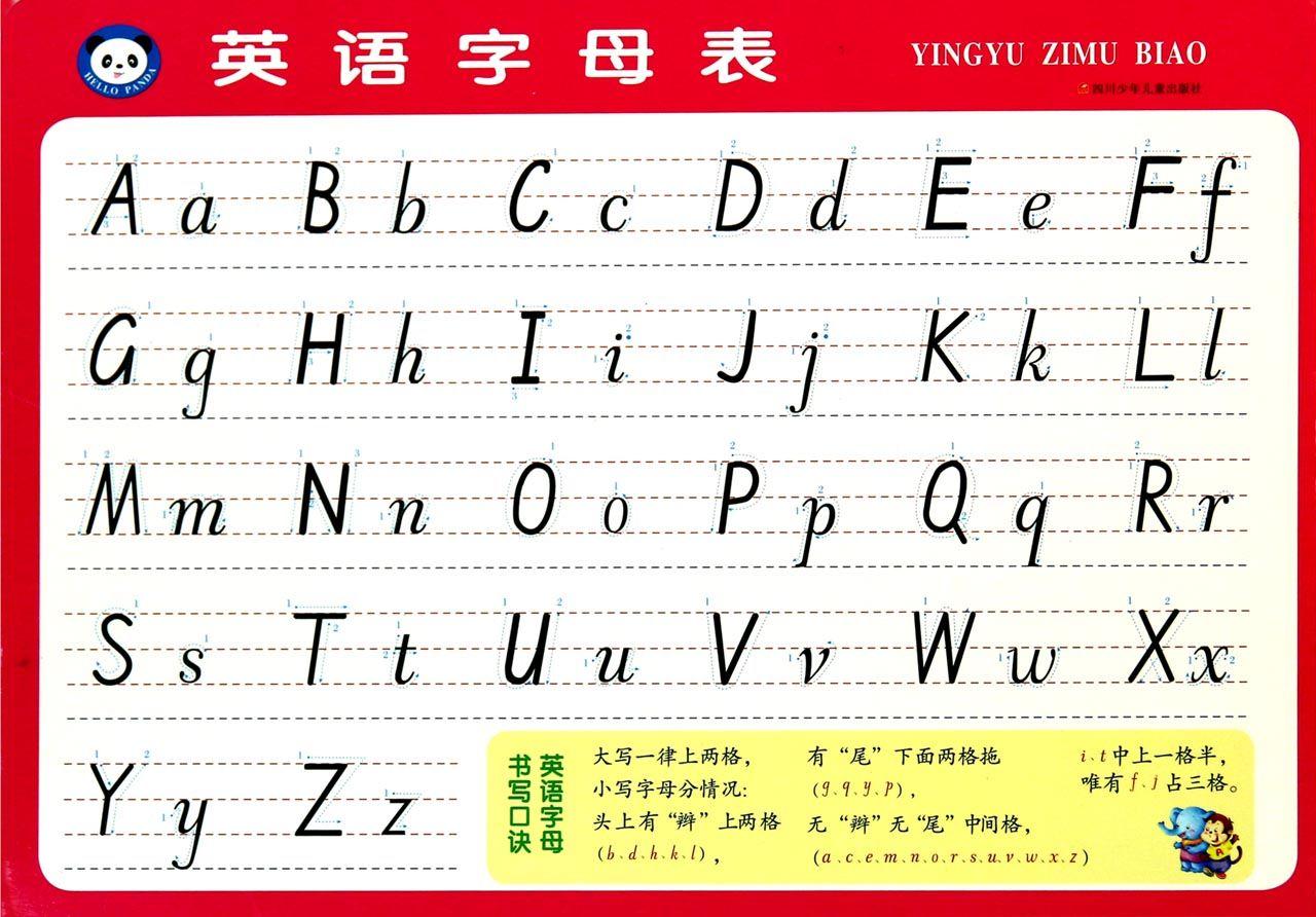 英语字母表