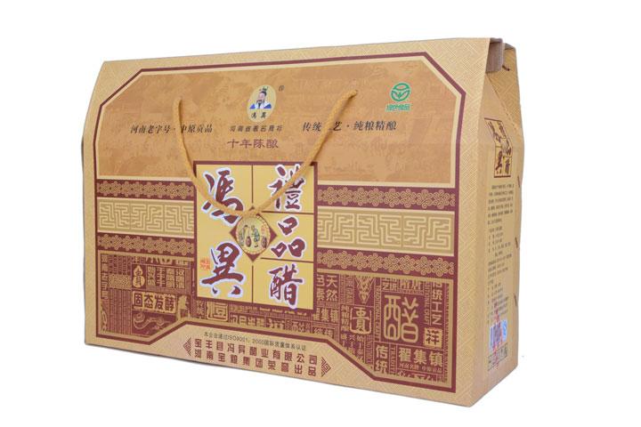 河南平顶山宝丰 特产 冯异礼品醋 250ml*6 礼盒装