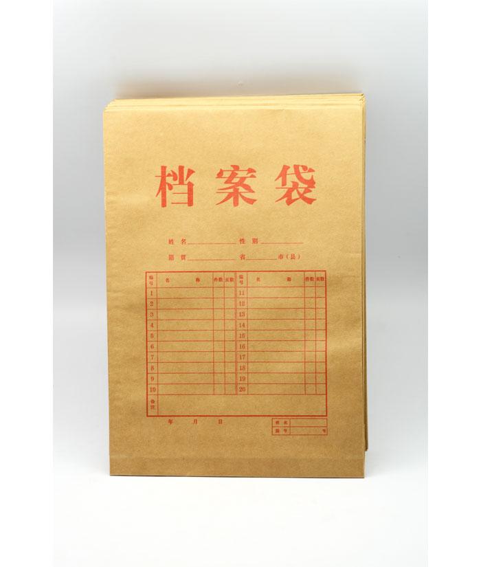 a4纯木浆牛皮纸公文袋