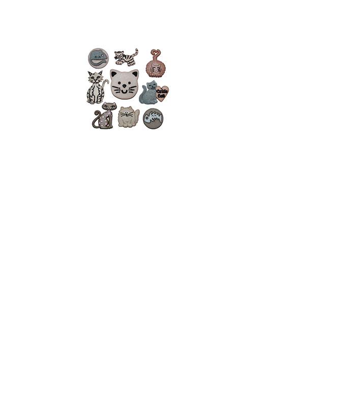 猫咪款扣子/美国造型扣/手工拼布diy必备服装装饰扣子