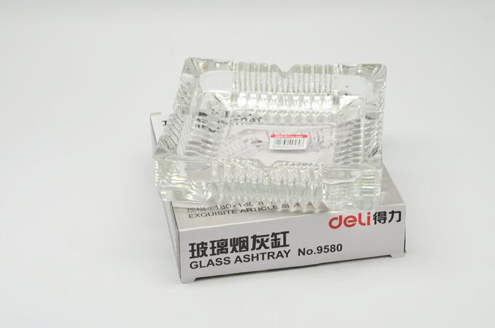 得力(deli) 9580大号玻璃烟灰缸