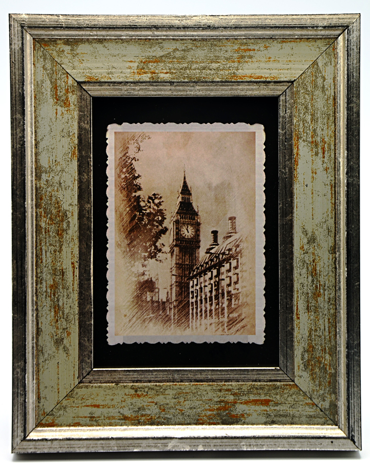 金色实木摆台相框 欧式古典乡村b -云书网图片